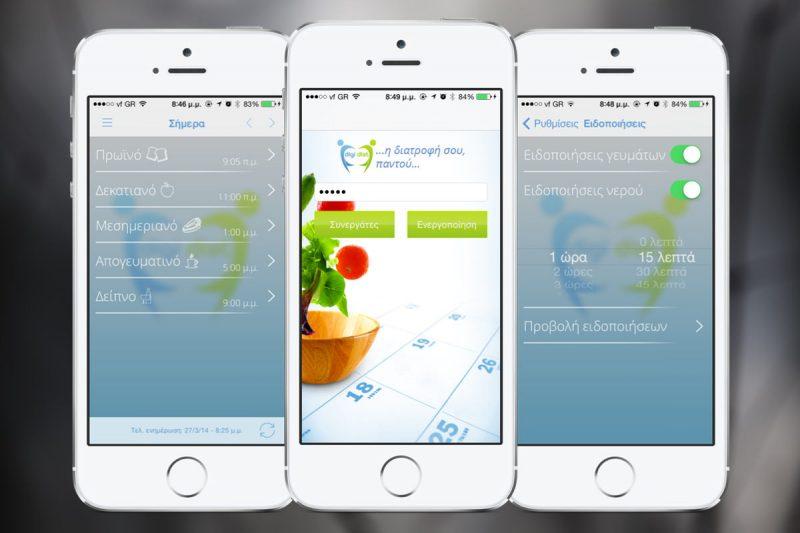 DigiDiet iOS Application Screenshots